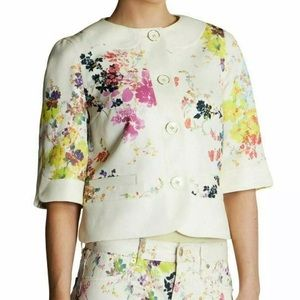 Ted Baker Zohe Floral Print Cropped Jacket